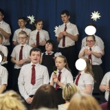 photograph of pupils performing at the Christmas Carol Service and Nativity Play