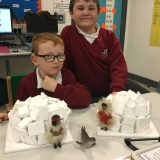 Pupil making igloo