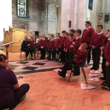Picture of the school choir performing