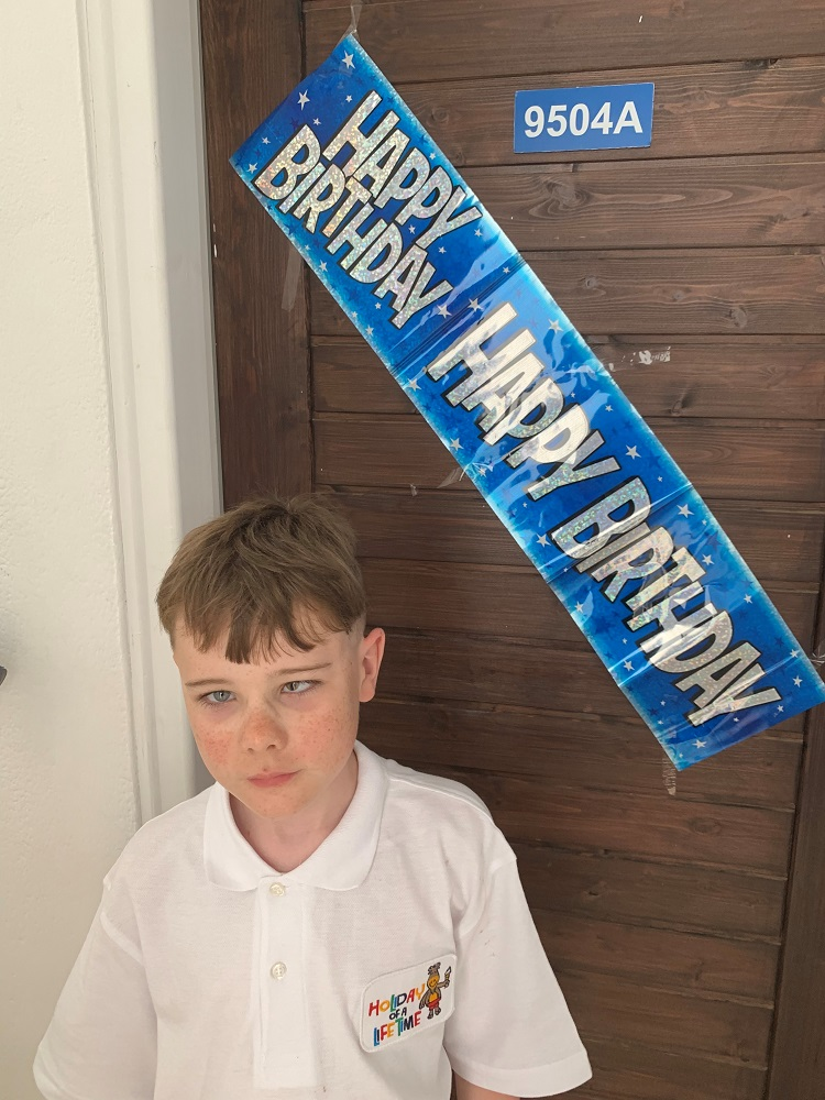 pupil celebrating his birthday in Cyprus