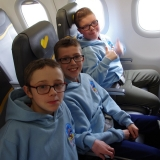 Picture of pupils on the plane to Cyprus