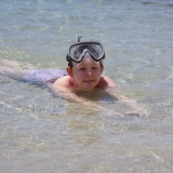 Picture of a pupil swimming