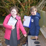 Picture of two pupils during the forest club
