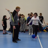 Picture of pupils training with the GAA