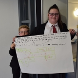 Picture of pupils with their storyboard outlining the photographs they need to take