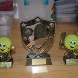 Picture of tennis trophies