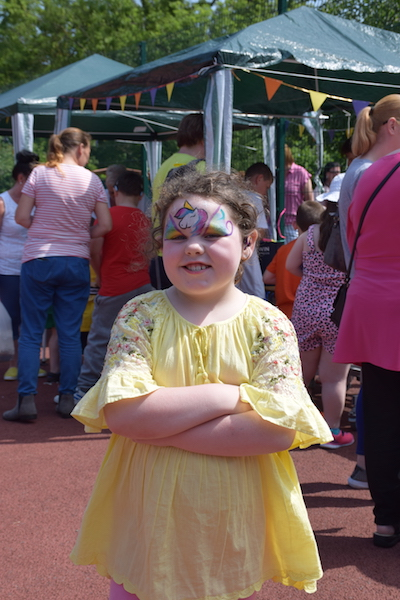Picture of pupil after having her face painted