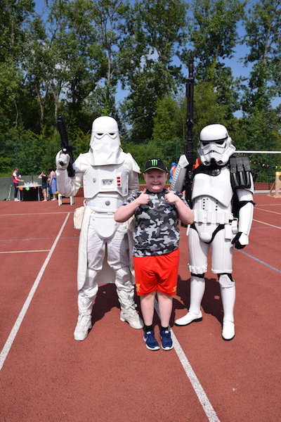 Picture of pupil with Star Wars Star Troopers