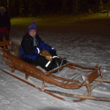 Pupil on a sledge