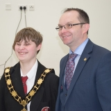 Mayor with pupil