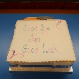 Picture of the school leavers celebration  cake