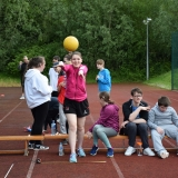 Picture of a pupil football throwing