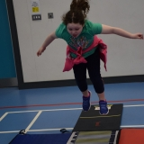 Picture of a pupil stand long jumping