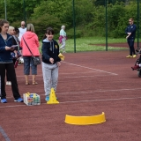 Picture of a pupil target throwing