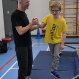 W2Photograph of a pupil at the circus skills workshop