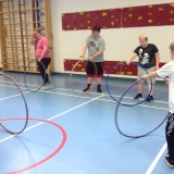 Pupils learning circus skills
