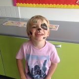 Pupils having their face painted