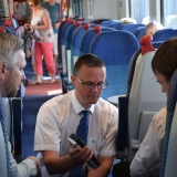 Picture of Pupil learning about travelling on a Translink train