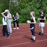 Photograph of pupils lined up ready to start a game of tag rugby