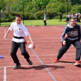 Photograph of pupils during a game of tag rugby
