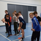 Picture of pupil target shooting with a rugby ball