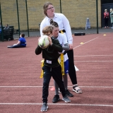 Photograph of a pupil learning passing skills