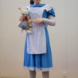 Photograph of a pupil in their charactor outfit