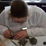 Picture of a pupil modelling clay