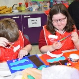 Picture of pupils doing art work