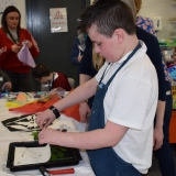 Picture of a pupil making a print