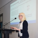 Picture of a member of RNIB during their presentation at the conference