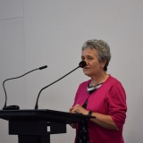Picture of Pauline Leeson , CBE Chief Executive of Commissioner for Children and Young People speaking at the conference