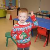 Pupil wearing Christmas jumper