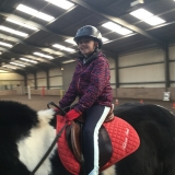 Pupil horse riding