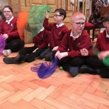Picture of pupils taken part in the coral workshop