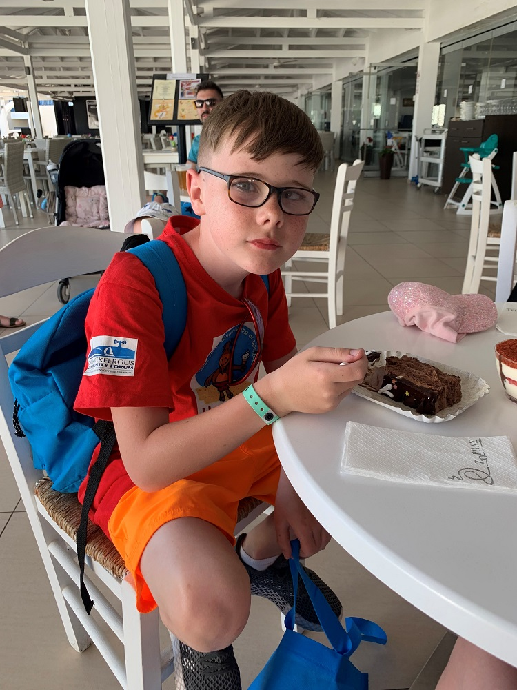 pupil celebrating his birthday in Cyprus