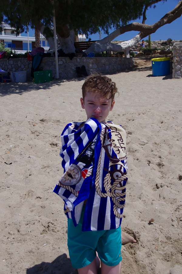 Picture of a pupil on the beach