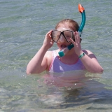 Picture a pupil in a snorkel mask
