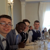 Picture of pupils at their dinner table