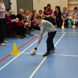 Picture of a pupil using a hurling stick