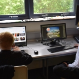 Picture of students editing their  pictures in PhotoShop