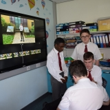 Picture of students editing their stop motion video