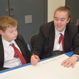 Picture of a students planning their stop motion video