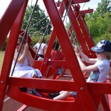 Picture of pupils on boat swings