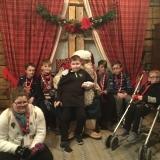 Pupils with Santa