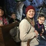 Staff and pupils enjoy a tour ride