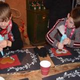 Pupils decorating ginger bread