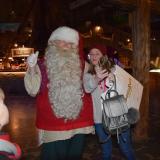 Staff member with Santa