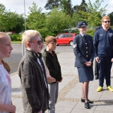 Picture of pupils lined up to meet the  Lord Lieutenant of County Antrim