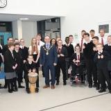 Mayor with school choir